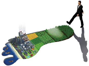 Ökológiai lábnyom / Pinterest