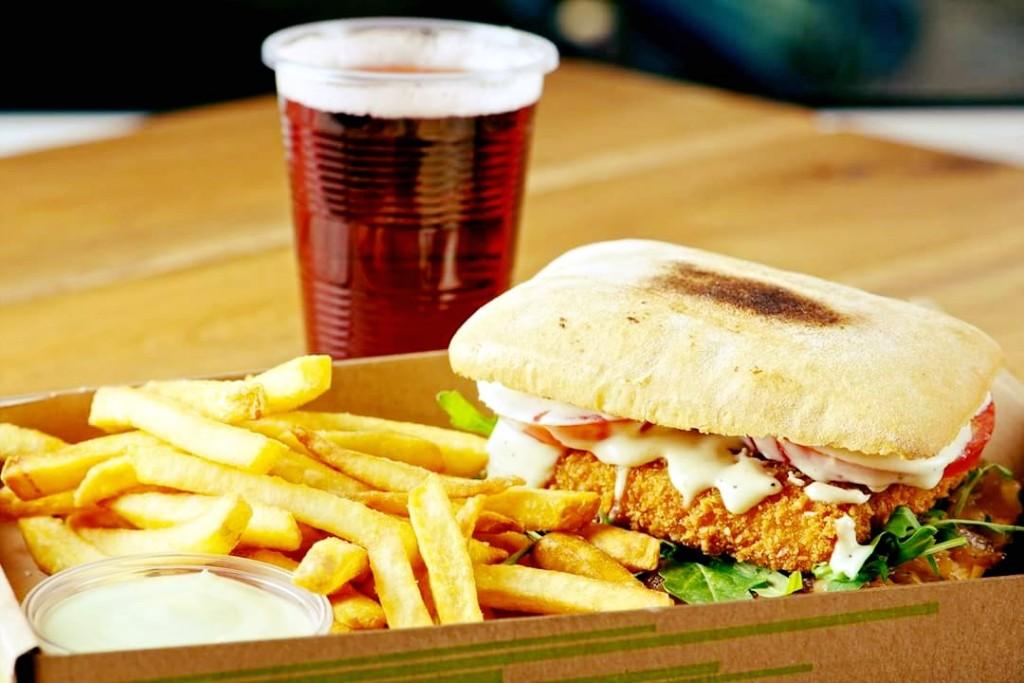 Forrás: Paneer / Cheese burger menü