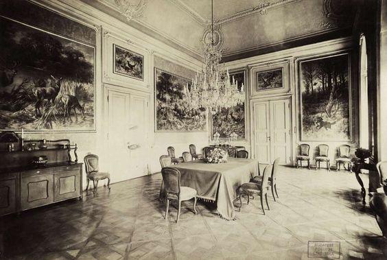 """A berzencei Festetics-kastély étterme. A felvétel 1895-1899 között készült."""" Forrás: Fortepan / Budapest Főváros Levéltára. Levéltári jelzet: HU.BFL.XV.19.d.1.11.150"""