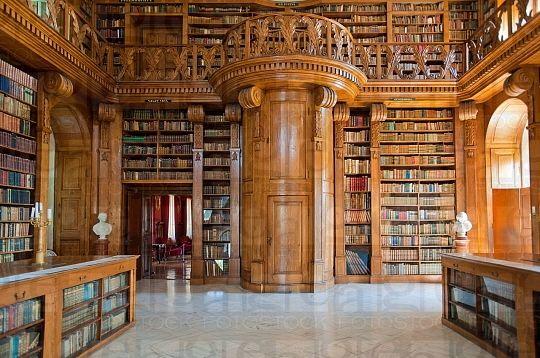 A kastély legnagyobb értéke Magyarország egyetlen épen maradt főúri magánkönyvtára - Forrás: https://hu.pinterest.com/pin/415808978077398736/